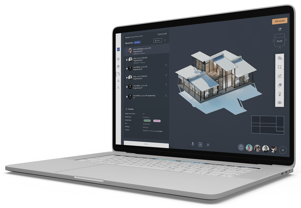 3D BIM model with construction information in the IFC viewer